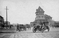 President Taft leaving the train station in 1912.