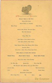 1931 Menu