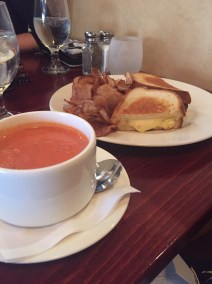 Firefly | tomato soup and grilled cheese