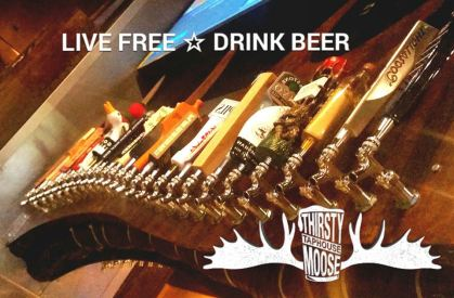 Thirsty Moose- Tap wall