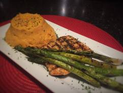 Bayona Cafe - Lemon Rosemary Grilled salmon