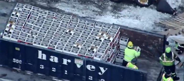 Fireball Whisky Truck Crashes in Massachusetts - Intoxicology com
