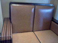 Original seats from the train station lobby!