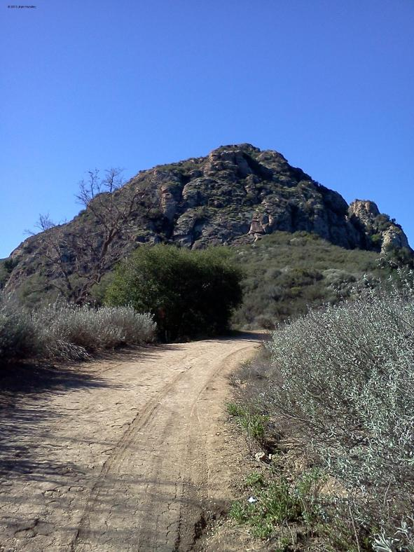 Trail goes between the Goat Buttes.