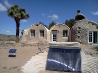 Solar panels in back yard.