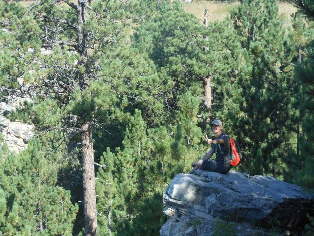 Me sitting on an outcropping
