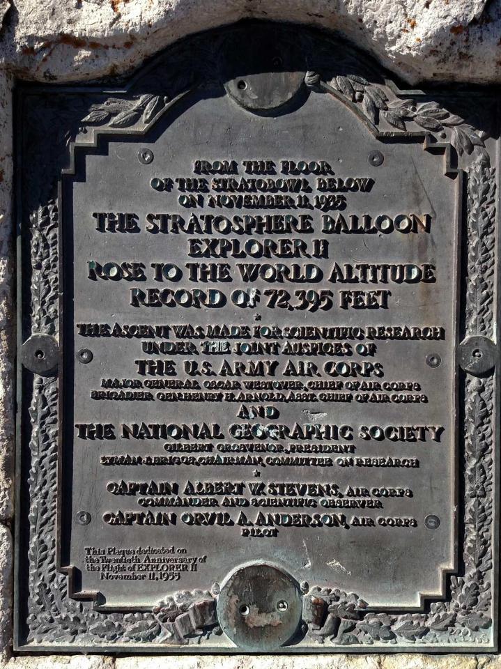 Plaque honoring Explorer II