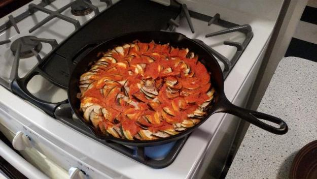 Cast iron skillet ratatouille