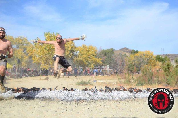 Spartan Sprint, fire jump