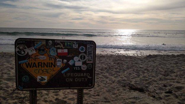 Sign on El Matador Beach