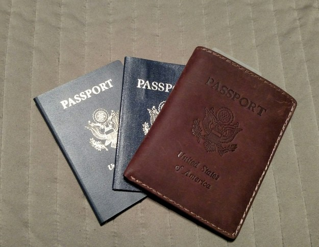 New passport, old passport, and a sweet leather passport case... I may not have plans, but I'm ready anyway!