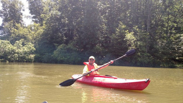 Kayaking in Lake George at Loud Thunder Forest Preserve