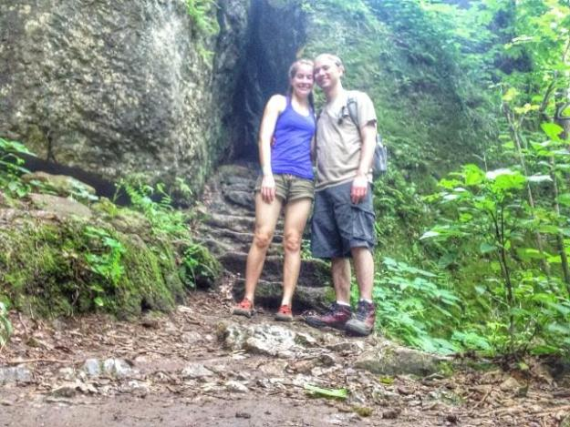 The trails at Maquoketa Caves State Park.