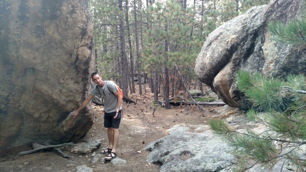 Eric showing us bouldering problems