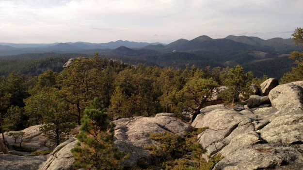 Where Old Baldy Trail turns to granite