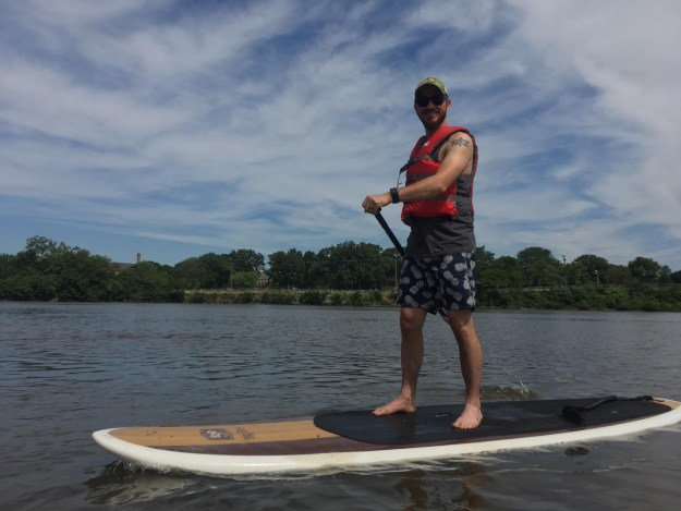 Local adventure - stand up paddleboarding