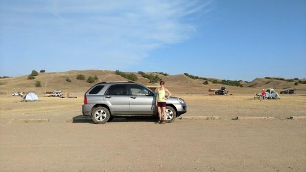 Kia Sportage in the Badlands