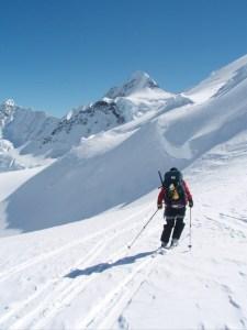 backcountry ski adventure