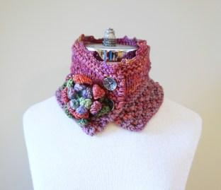 floral vines knit pink1