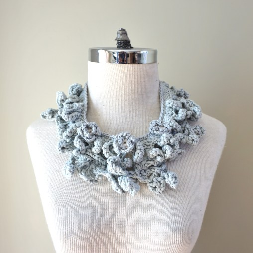 accent scarf cotton grey