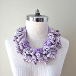 accent scarf cotton mauve1