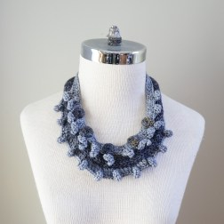necklace scarf grey combo3