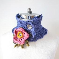 wild rose scarf periwinkle