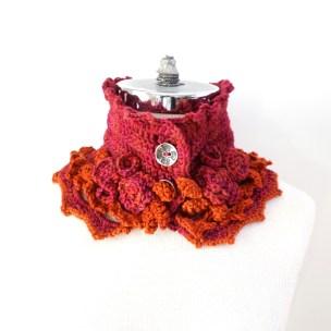 elegant-rose-scarf-short-pink-orange