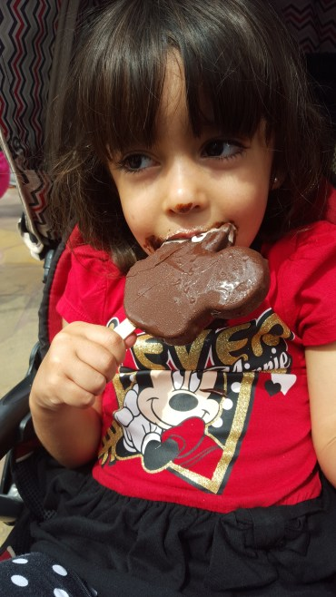 I want to enjoy everything in life as much as this little girl enjoyed this Mickey shaped ice cream bar.