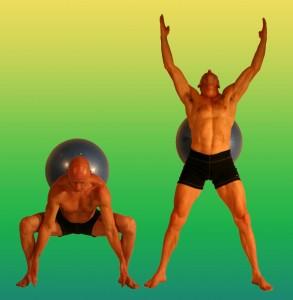 3 squats w overhead reach