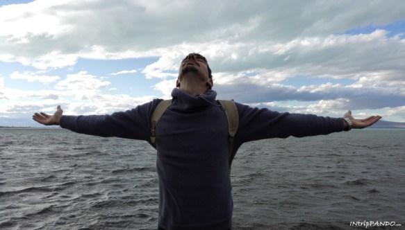 Le fredde acque del lago Argentino in Patagonia