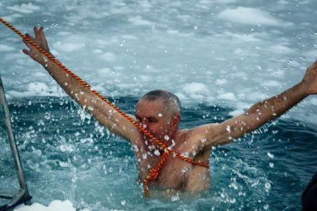 Bagno nel ghiaccio