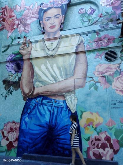 murales di Frida Kahlo nel quartiere Palermo di Buenos Aires