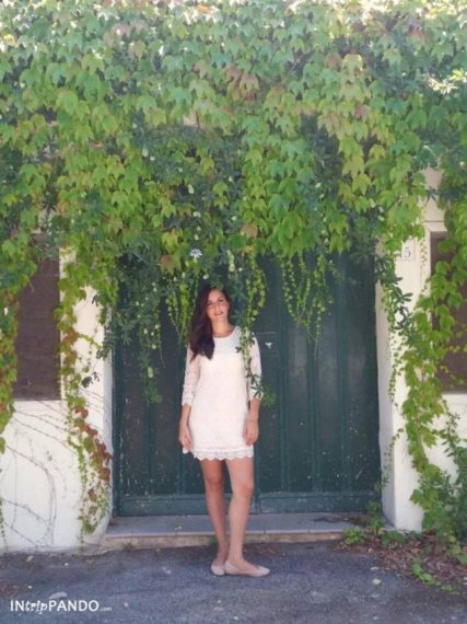 Porta verde con piante a Ischia
