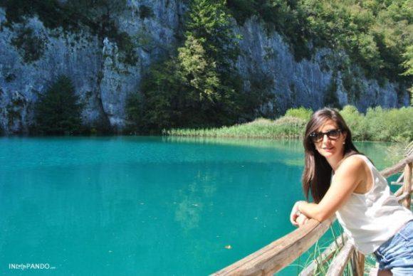Lo splendido azzurro dell'acqua di Plitvice
