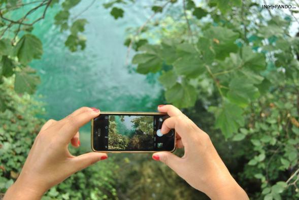 foto dell'acqua dei laghi di Plitvice
