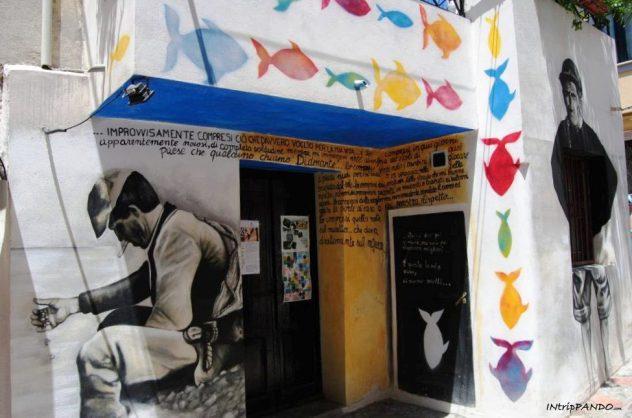 Murales nel centro storico di Diamante