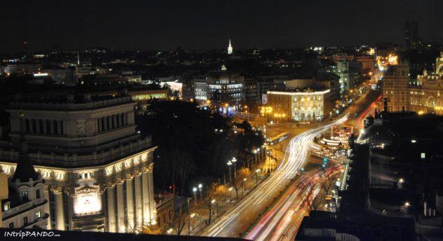 Le luci della Gran via di Madrid
