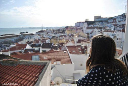 panorama dal quartiere Alfama di Lisbona