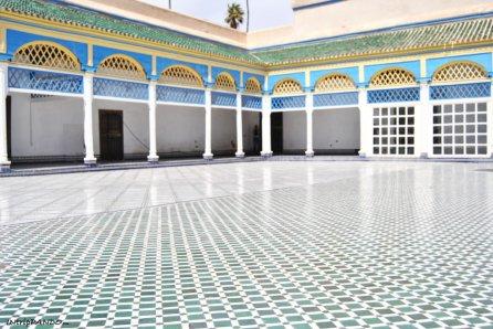 Cortile all'interno di Palazzo Bahia