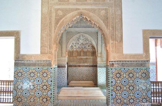 Particolare delle tombe Saadiane di Marrakech