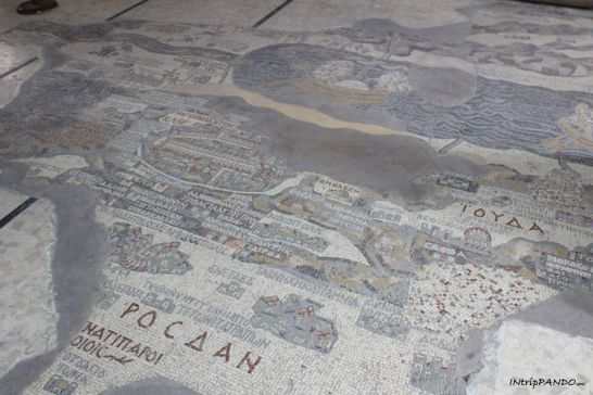 Mappa-moasaico della Terra Santa
