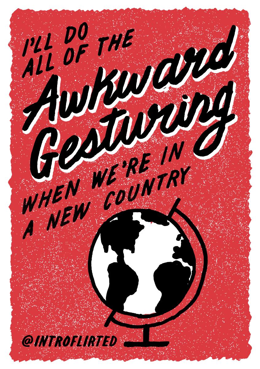 Introflirted #58 Awkward Gesturing By Josh Ryan Higgins