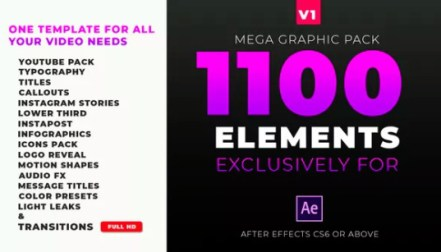 Motion Graphics Pack V2 » Free after effects Templates