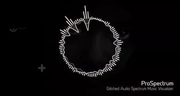 Glitched Audio Spectrum Music Visualizer 19850765 » Free after