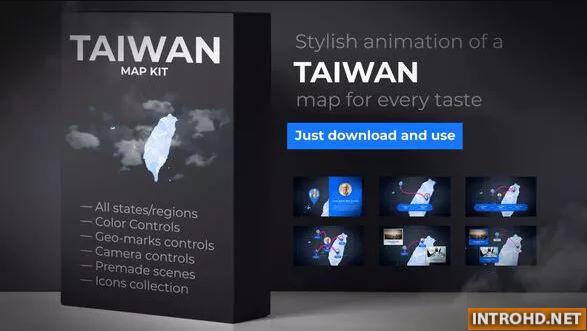 VIDEOHIVE TAIWAN ANIMATED MAP - REPUBLIC OF CHINA ROC MAP KIT » Free