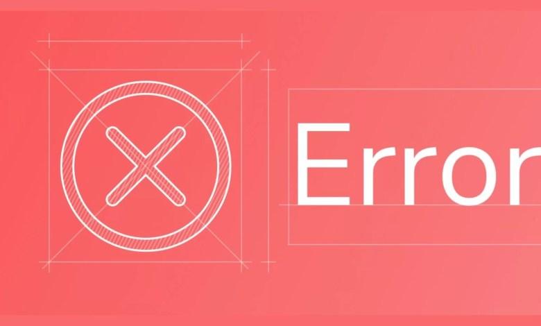 Common web page errors