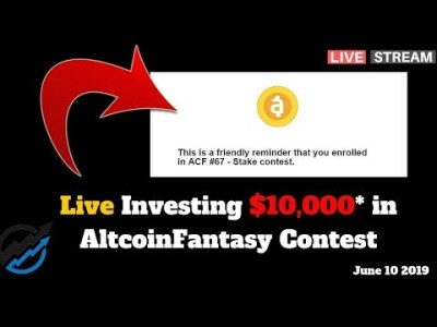 LIVE Investing $10,000* in AltcoinFantasy Contest. Crypto Alerts Proof