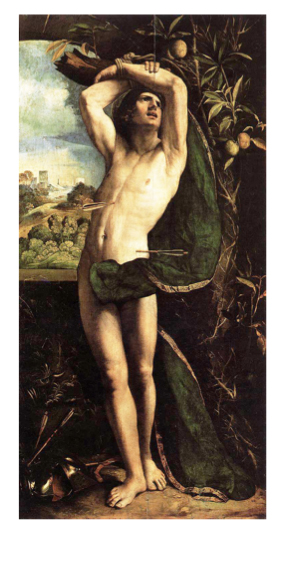 Dosso Dossi, St. Sebastian, early 1500s.