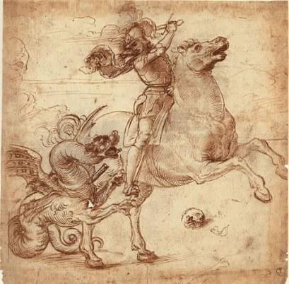 raphael-drawings-san-giorgio-e-il-drago